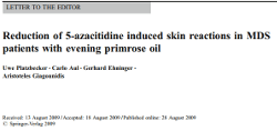 Primrose Oil for Treating Vidaza Rash