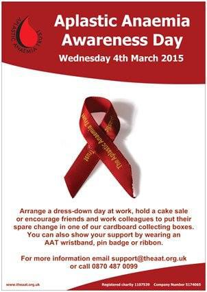 Aplastic Anaemia Awareness Day – 4th March 2015