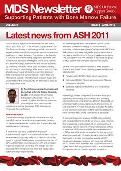 MDS UK Patient Support Group Newsletter – April 2012