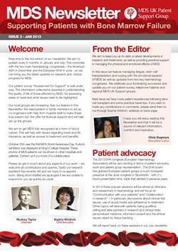 MDS UK Patient Support Group Newsletter – January 2013