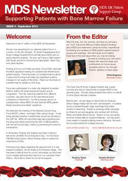 MDS UK Patient Support Group Newsletter – September 2013