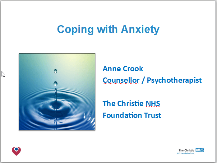 What Is Mds >> Coping With Anxiety Mds Uk Patient Support Group