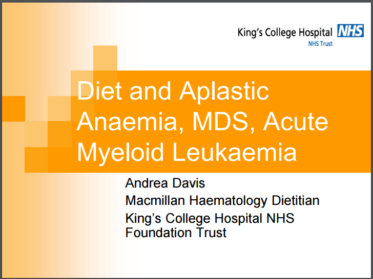Diet and MDS