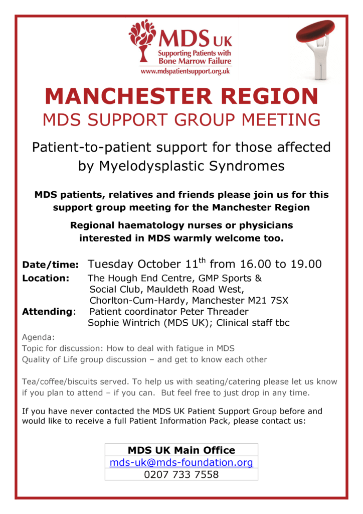 Manchester Region Support Group Oct 2016