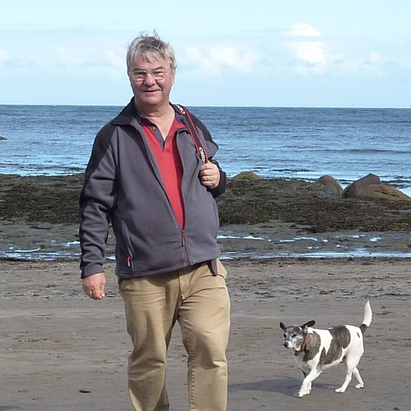 Jim Bruce with his dog