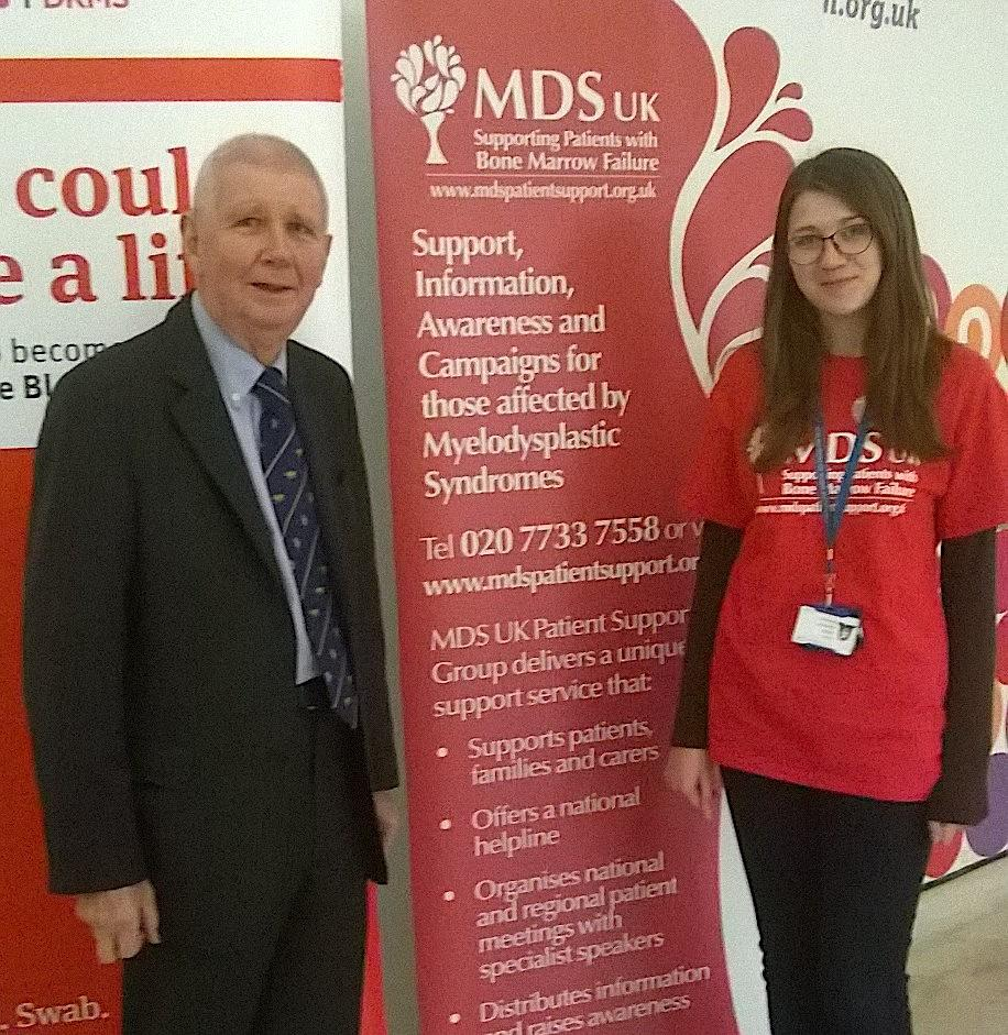 Professor Rodney Taylor with an MDS Campaigner