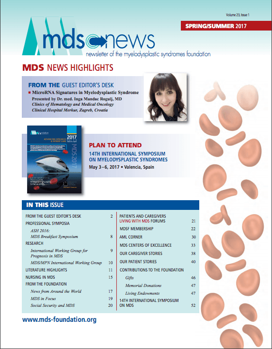 MDS Foundation Newsletter Spring Summer 2017