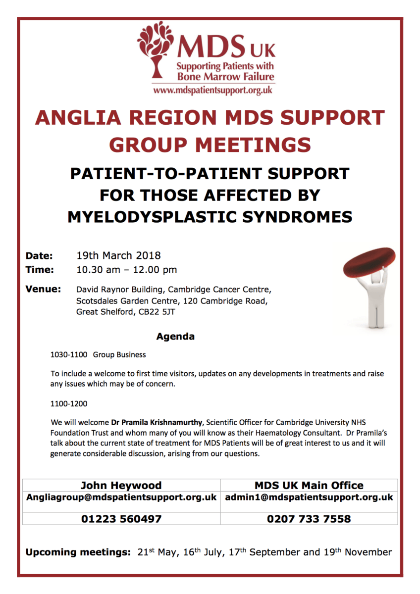 Anglia Regional MDS Group Event Details