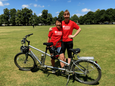 We've got seven amazing people riding the Prudential Ride London for MDS UK