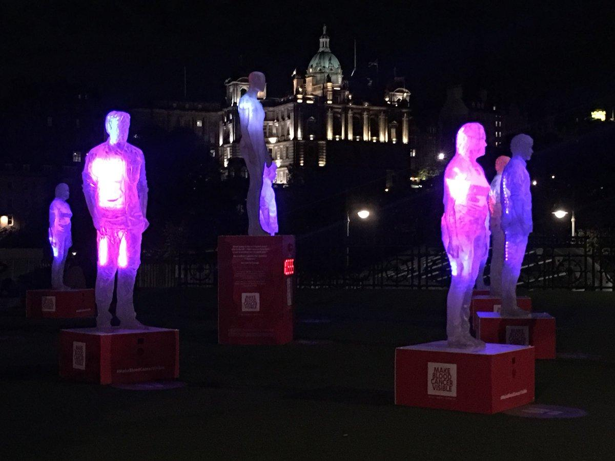 Stunning Images from Make Blood Cancer Visible, Waverley Mall, Edinburgh