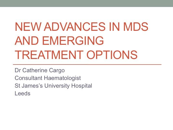 New Advances in MDS Presentation