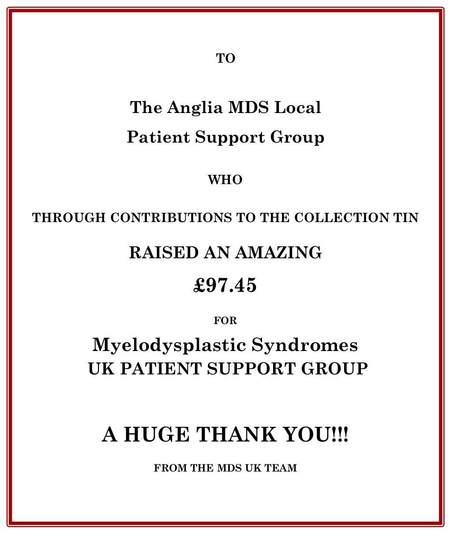Anglia Group Donation Poster