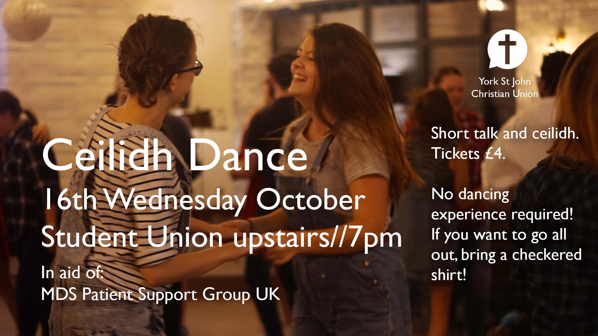Cèilidh Fundraising Event 16 October Poster