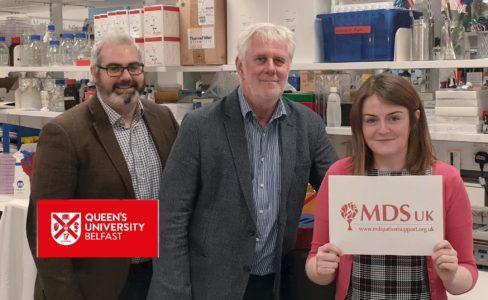 Researchers at Queen's University Belfast receive the 1st scientific research grant awarded by MDS UK