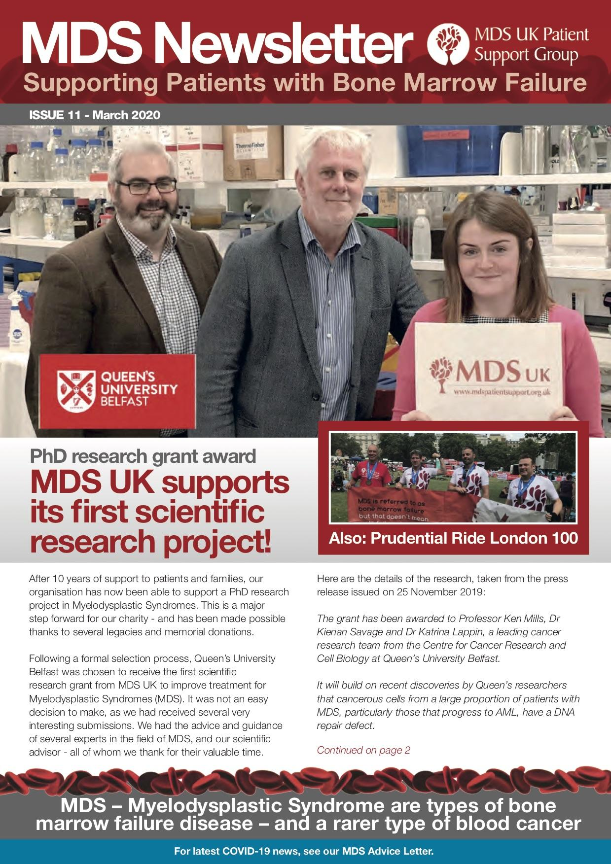 MDS UK Patient Support Group Newsletter – March 2020