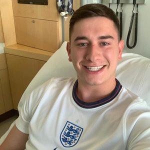 He shoots, he scores! He saves a life! Hero England fan!
